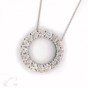 Diamond Circle Pendant