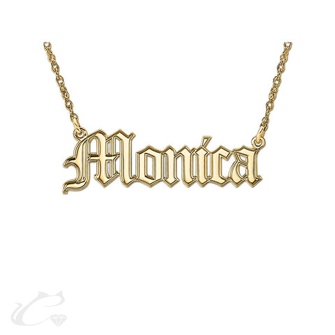The Old English Nameplate Necklace