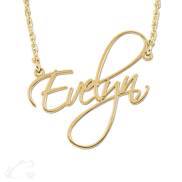 The Opulent Nameplate Necklace