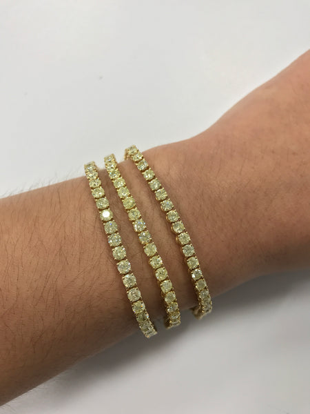 Canary Yellow Tennis Bracelet