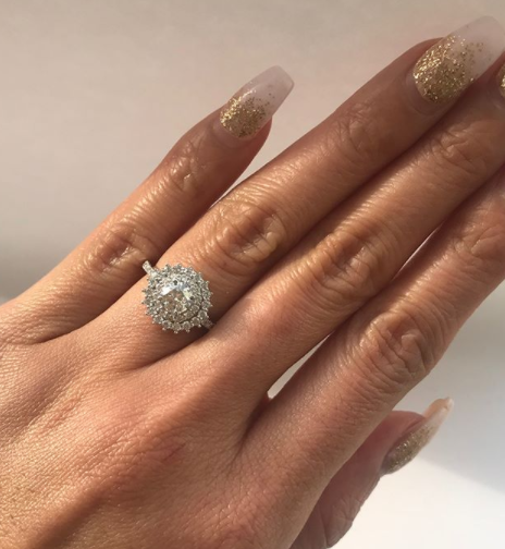 Double Halo Round Diamond Statement Ring