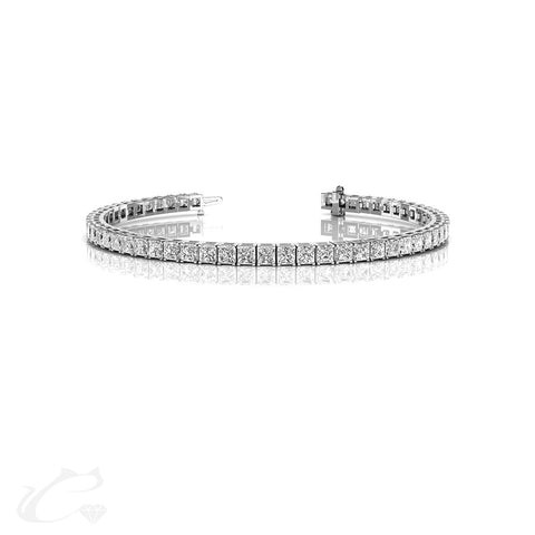 9.5 CTW Princess Cut Tennis Bracelet