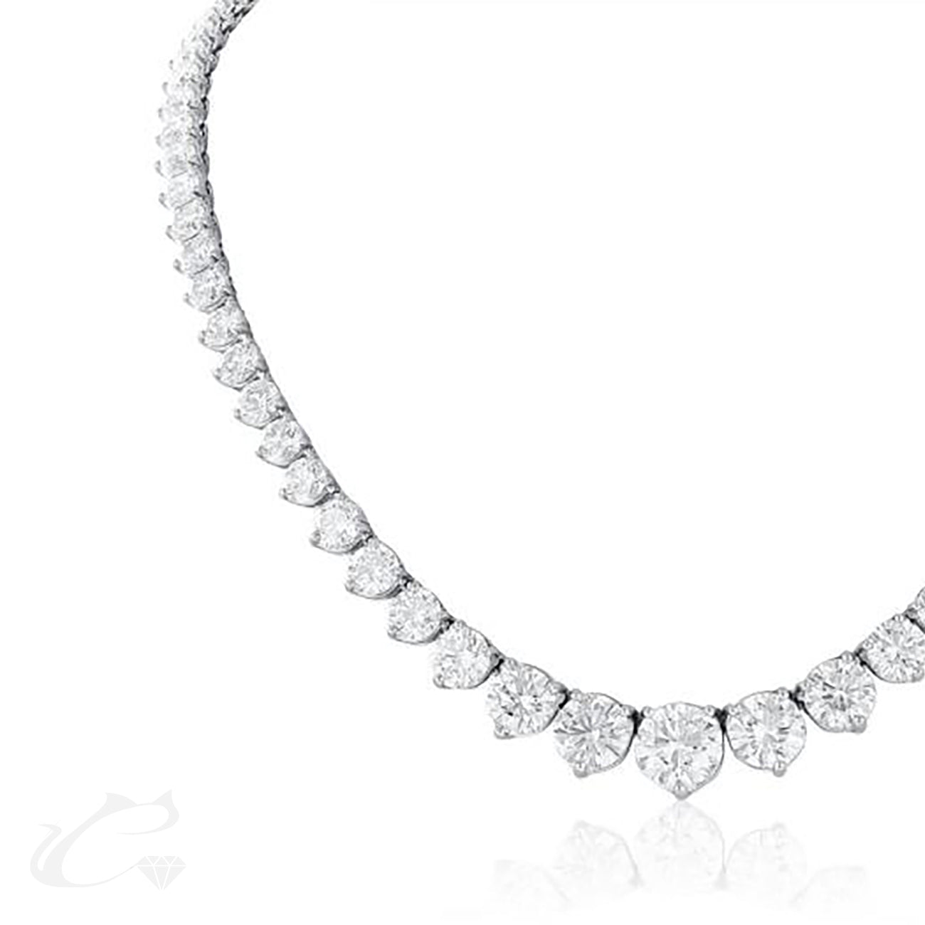 Riviera Diamond Tennis Necklace