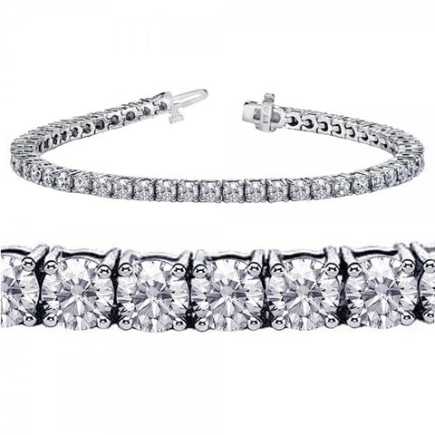 Classic Four Prong Diamond Tennis Bracelet
