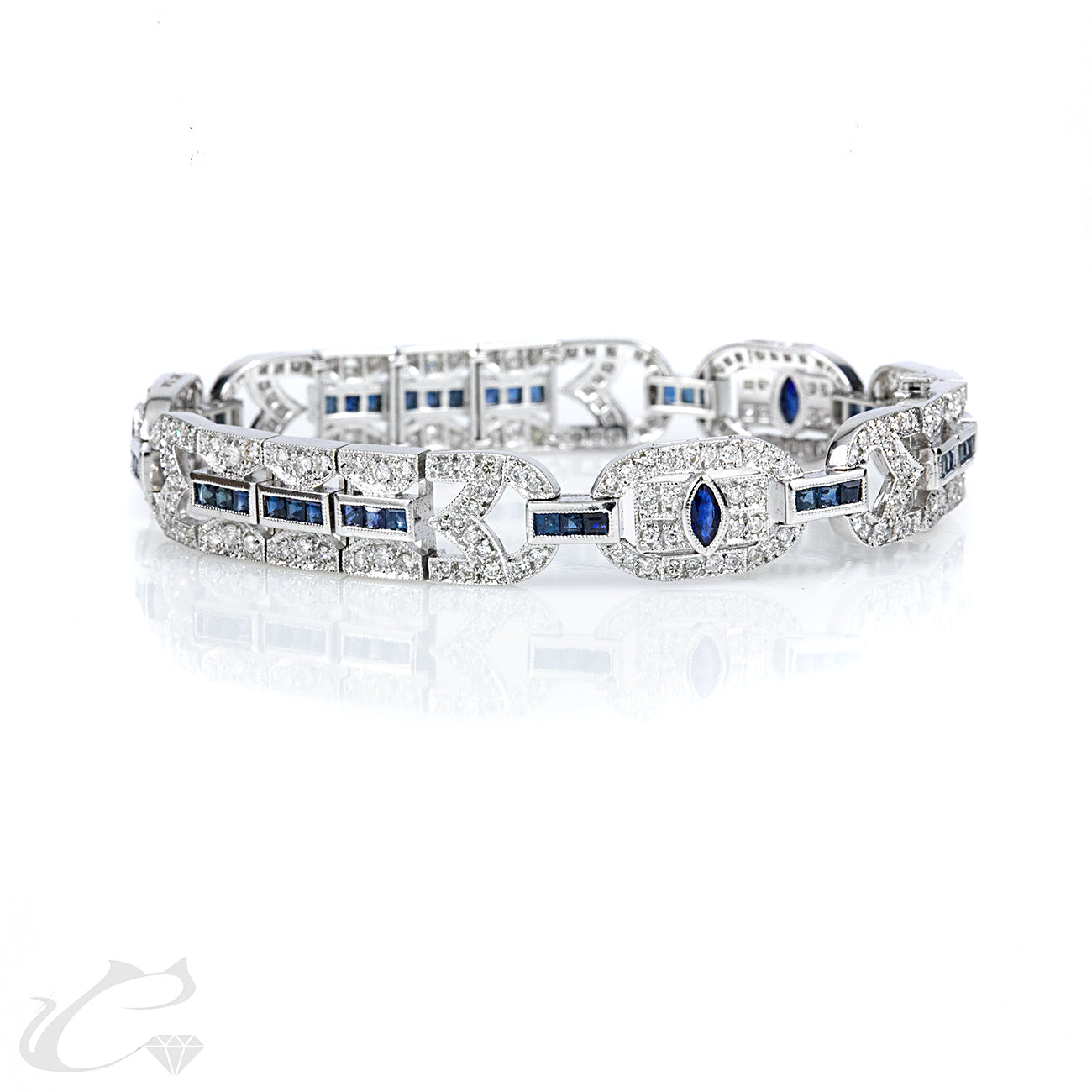 Art Deco Sapphire and Diamond Bracelet