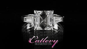 Asscher Cut & Baguette Diamond Engagement Ring