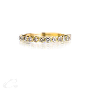 Round Brilliant Diamond Bezel Set Anniversary Band