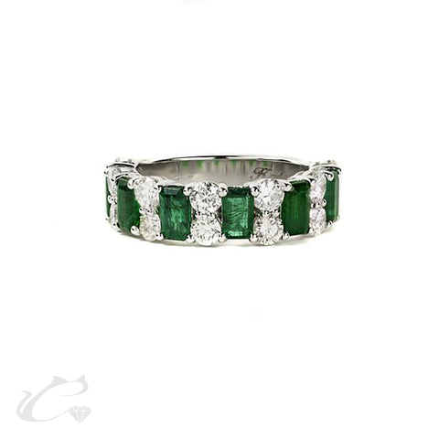 Emerald and Diamond Anniversary Band