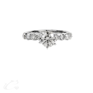 14K W/G Diamond Engagement Ring 1.90 ctw
