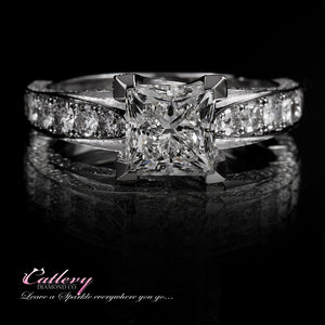 Princess Cut With Eternity Band