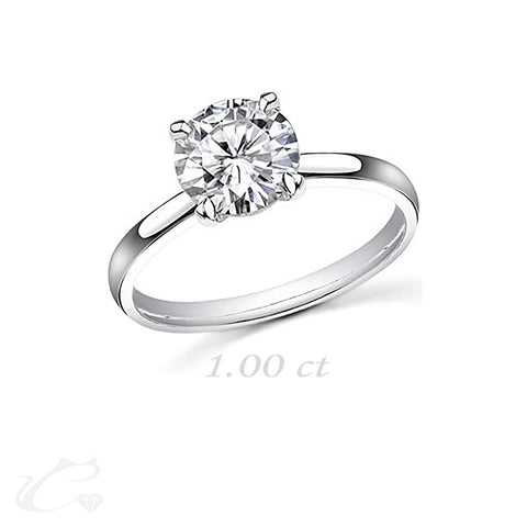 Solitaire Round Brilliant Diamond Ring