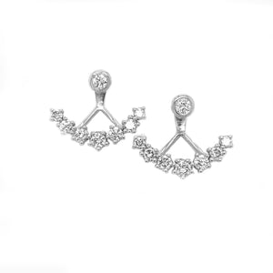 SE-RI Crescent Diamond Earrings