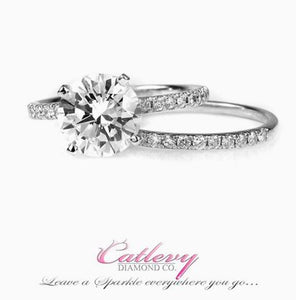 Round Solitaire Engagement Ring Set