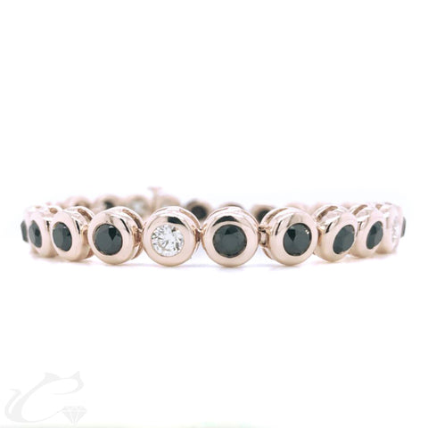 Rose gold Diamond Tennis Bracelet for Men