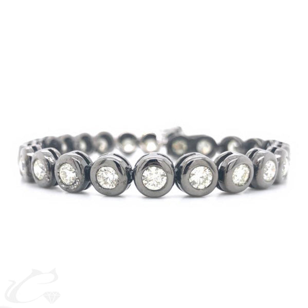 Men's Diamond Bezel Tennis Bracelet