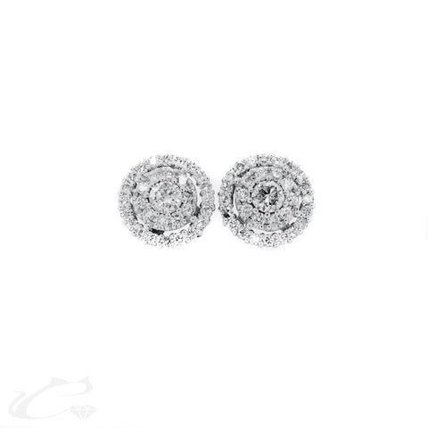 Illusion Diamond Earrings - Large