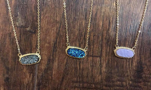 Druzy Necklaces with earrings