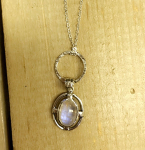 Solid .925 Sterling Silver Moonstone