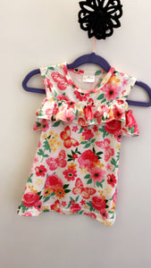 Flower and Butterflies Spring Dress