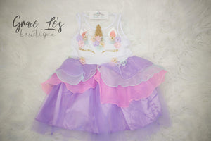 KIDS Purple Unicorn Dress