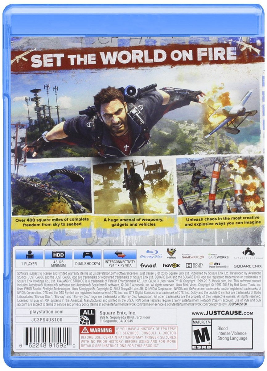 Playstation 4 Just Cause 3 Prime Varieties Sony Ps4 Gold Edition