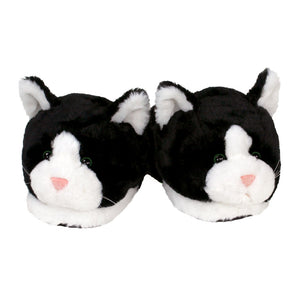 Black and White Kitty Slippers