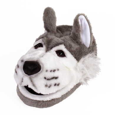 Gray Wolf Animal Slippers