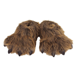 Kids Grizzly Bear Paw Slippers