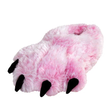 Kids Pink Tiger Paw Slippers