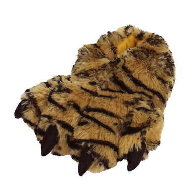Kids Orange Tiger Paw Slippers