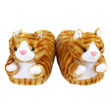 Orange Tabby Cat Slippers