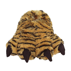Orange Tiger Paw Slippers