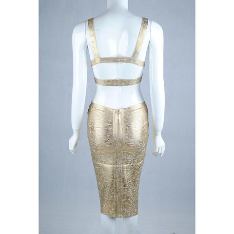 Mila Gold Two Piece Dress