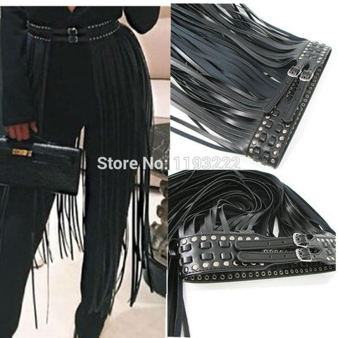Lacey Long Tassel Skirt Belt