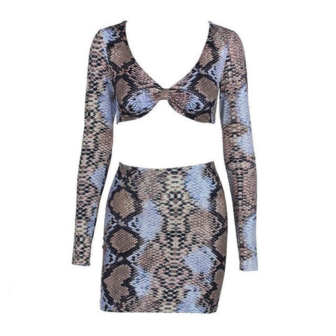 Image of Snake Skin Two Piece