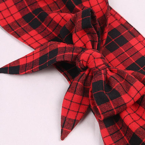 Plaid School girl Two Piece Dress