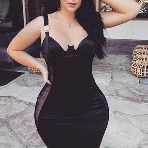 Corset Sheer Bodycon Dress