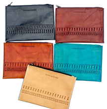 Our collection of boho leather custom zipper bags clutch are cool as they come