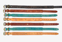 Our full collection of boho leather custom dog collars