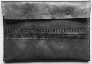 This beautifully cool boho leather laptop case will protect & flatter any size laptop Made with 100% vegetable tanned leather that is all hand tooled & carved Made in USA