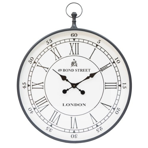 Zinc Weathered Wall Clock 60cm
