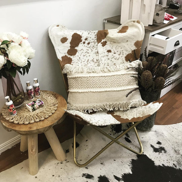 Daisy Butterfly Chair (Br/Wh)