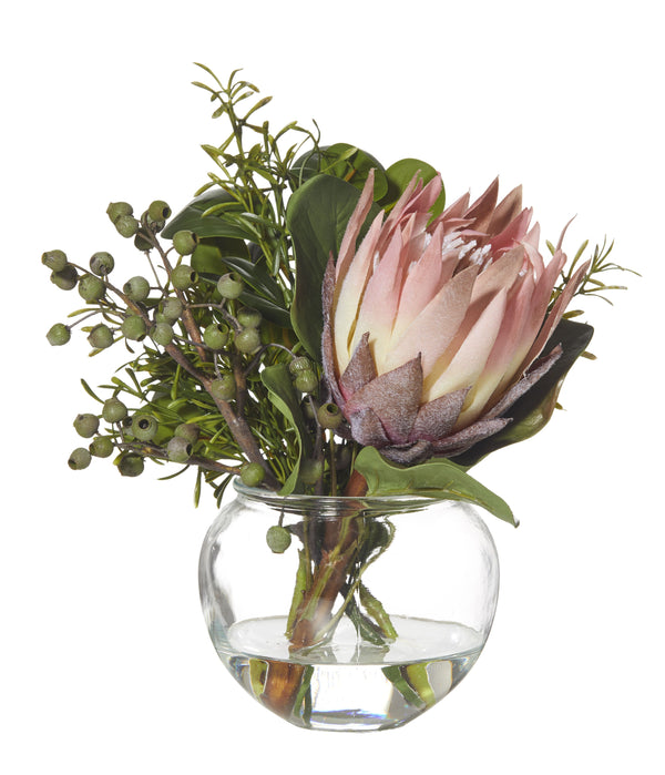 Protea Mix Fish Bowl Vase