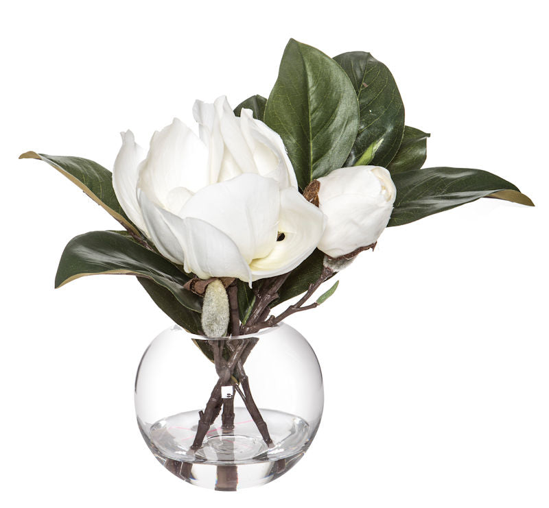 Magnolia Glass Vase
