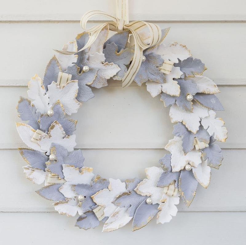 CHRISTMAS PRESSED FOLIAGE WREATH