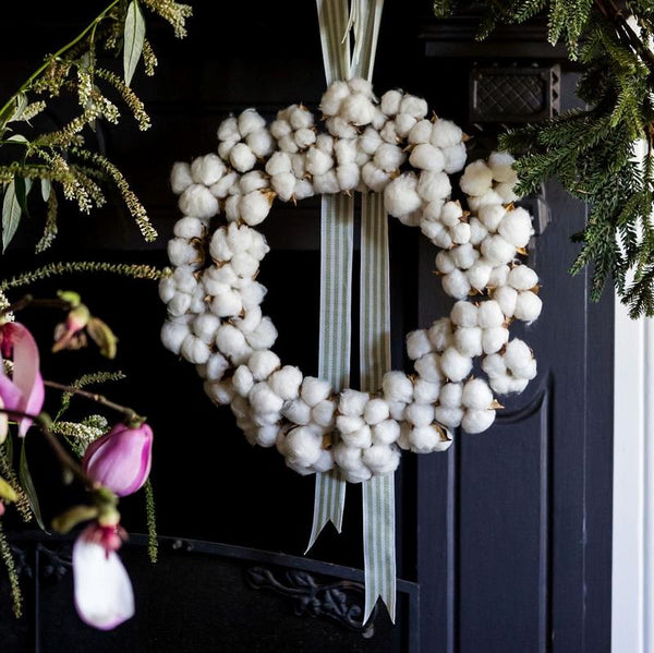 AUSTRALIAN COTTON CHRISTMAS WREATH