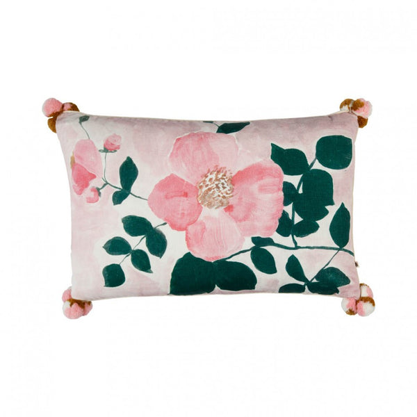 Tea Rose Cushion Pink 75x45cm