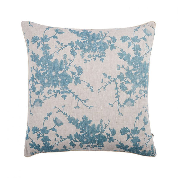 Field Floral Dusky Blue Cushion 60cm