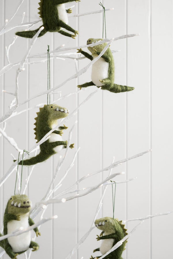 Wool Hanging Crocodile