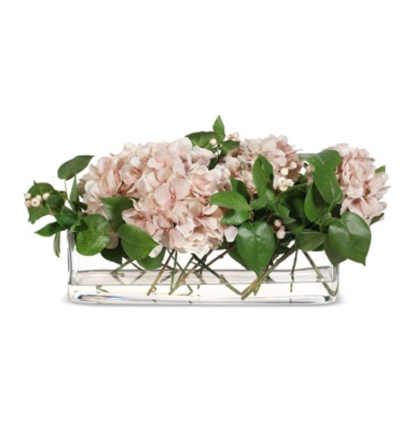 Hydrangea Mix in Rectangle Vase